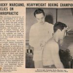 Rocky Marciano at the Chiropractor
